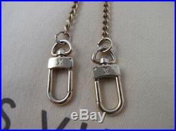 100% Authentic Louis Vuitton Key Wallet Chain Strap Bag Charm Gold-Tone 725