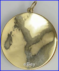 14k Gold Charm, A DATE TO REMEMBER Vintage from the 1950's