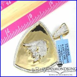 14k Yellow Gold Tone Solid Stering Silver Genuine Real Diamond Lamborghini Charm