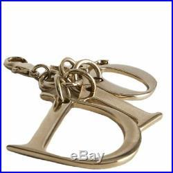 60414 auth CHRISTIAN DIOR gold tone LOGO Bag Charm