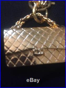 AUTHENTIC CHANEL Triple Chain Chanel Purse Pendant Necklace