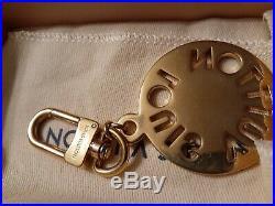 AUTHENTIC LOUIS VUITTON LV Circle BAG Charm and Key Holder PURSE GOLDTONE