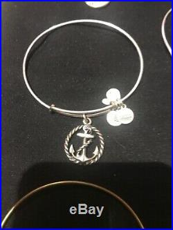 Alex and Ani Gold Tone Silver Tone Bracelet Lot of 20 mixed charm