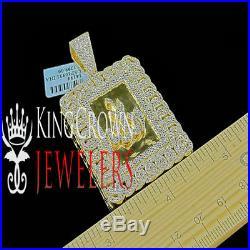 Allah Arabic Islamic Genuine Real Diamond Charm Pendant Yellow Gold Tone 2.5