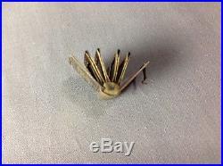 Antique Victorian Gold Tone Enamel Miniature Mourning Photo Locket Book Charm