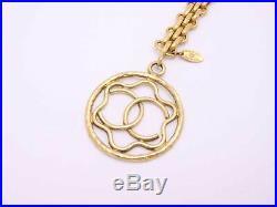 Auth CHANEL CC Logo Key Ring Bag Charm Goldtone e40990