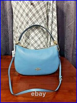Auth Coach Crossbody Sutton In Pebble Leather Bag Bnwt $ 225.00
