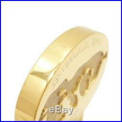 Auth HERMES 2003 ANNEE MEDITERRANEE Cadena Gold Tone Bag Charm Brass #S207012