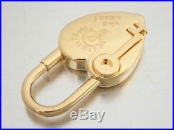 Auth HERMES 2004 ANNEE DE LA FANTAISIE Cadena Bag Charm Goldtone Metal e39908