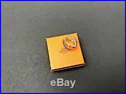 Auth HERMES BIJOUTERIE FANTAISIE Scarf Ring Charm Goldtone Metal