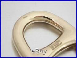 Auth HERMES Chain d' Ancre Scarf Ring Charm Goldtone Metal e39909