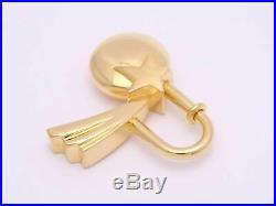 Auth HERMES Dans les Etoiles 1999 Cadena Charm Pendant Goldtone e41180