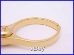 Auth HERMES Filou Glove Holder Bag Charm Gold Goldtone e38080