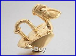 Auth HERMES Pelican Cadena Charm Pendant Goldtone e43115