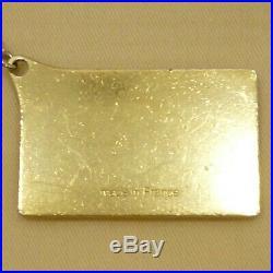 Auth LOUIS VUITTON 101 Champs Elysees Bag Charm Gold Tone Brass M95280 #S303058