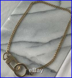 Auth LOUIS VUITTON Extender Key Ring Chain Charm Gold tone