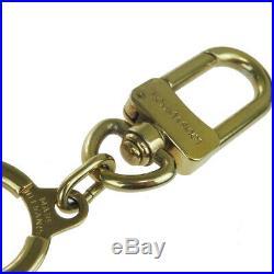 Auth Louis Vuitton Bag Accessory Gold Anochle M62694 Bag Charm Keyring 01FB192