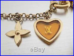Auth Louis Vuitton Bijour Sac Chain Nuby Fleur Bag Charm Multi/Goldtone e41010
