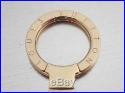 Auth Louis Vuitton FLEUR DE MONOGRAM BAG CHARM CHAIN White/Beige/Goldtone e43336