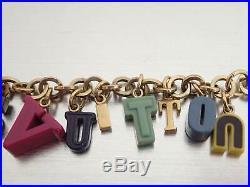 Auth Louis Vuitton Logo Bag Chain Charm Multicolor/Goldtone Plastic/Metal e40731