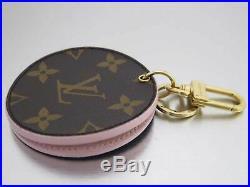 Auth Louis Vuitton Monogram Bag Charm LV Mirror Brown/Light Pink/Goldtone e42715