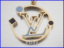 Auth Louis Vuitton Monogram Delight Bag Charm Light Blue/Goldtone e40215