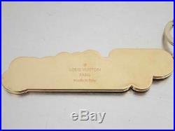 Auth Louis Vuitton NEW WAVE BAG CHARM AND KEY HOLDER Bag Charm Goldtone e41009