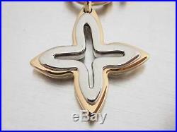 Auth Louis Vuitton Portocurean Ansolence Key Holder Charm Silver/Goldtone e41011