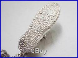Auth Tiffany&Co. 100th Ann Sneakers Motif Key Holder Charm Silver/Goldtone e43809