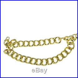 Authentic CHANEL Ball Charm Chain Long Belt Gold-Tone Accessory Vintage 02BG821