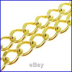 Authentic CHANEL CC Logos Charm Chain Long Belt Gold-Tone Accessory 1982 62BJ356