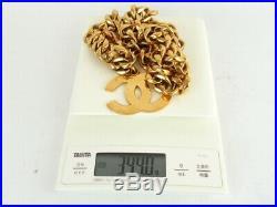 Authentic CHANEL Jumbo CC Charm Goldtone Chain Waist Belt 95cm 37 93P +Box