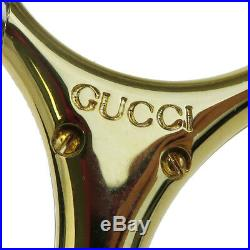 Authentic GUCCI GG Bag Charm Key Chain Silver Plated Gold-Tone Italy 09BA579