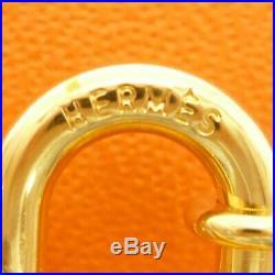 Authentic HERMES Pegasus Motif Cadena Lock Bag Charm Gold Tone Brass #S210007