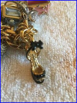 Authentic Juicy Couture Charm Watch, Gold Tone, 5 Charms plus Crown Watch, BNIB