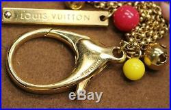 Authentic LOUIS VUITTON Key Ring Bag Charm Porte Cles Grelots Goldtone
