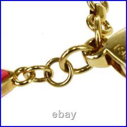 Authentic LOUIS VUITTON Porte Cles Knife Bag Charm Gold-Tone M66469 69MB537