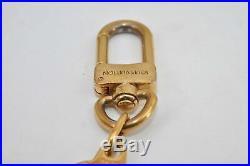 Authentic Louis Vuitton Charm Key Chain Anokre Gold M62694 LV 67591