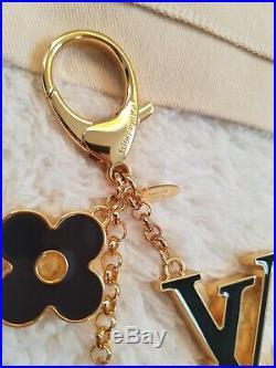 Authentic Louis Vuitton Fleur De Monogram Bag Charm Keychain M67119