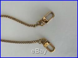 Authentic Louis Vuitton Gold Tone Key Wallet Extender Chain Strap Bag Charm