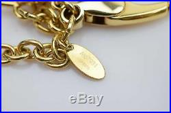 Authentic Louis Vuitton Key Ring Bag Charm Bloomy Gold Tone 364609