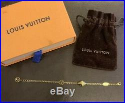 Authentic Louis Vuitton Malletage Supple Bracelet Gold Tone M00196
