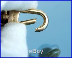 Authentic Louis Vuitton Monogram Gold Tone Metal Key Charm Key Holder Key ring