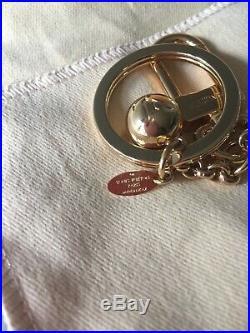 Authentic Louis Vuitton Porte Cles Eclipse Bag Charm Goldtone Metal