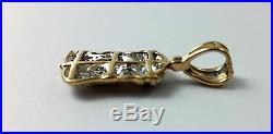 Beautiful 10K Two Tone Gold Jesus Head Charm Pendant with Diamonds Nice