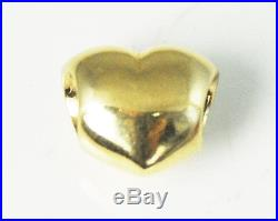 Beautiful Pandora 14k Gold Puffy Heart 750119 Puffed Retired Charm Bead