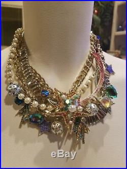 Betsey Johnson Gold-tone Celestial Multi-row Shooting Star Statement Necklace