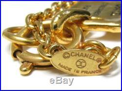 CHANEL 31 Rue Cambon Paris Charm Necklace 32 Gold Tone Pendant v1757