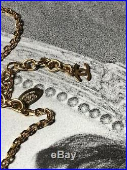 CHANEL CC Logo Necklace and Pendant Gold Tone