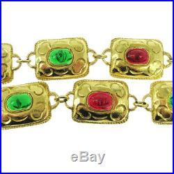 CHANEL CC Logos Charm Bijou Motif Belt Gold-Tone Accessories Vintage RK14437